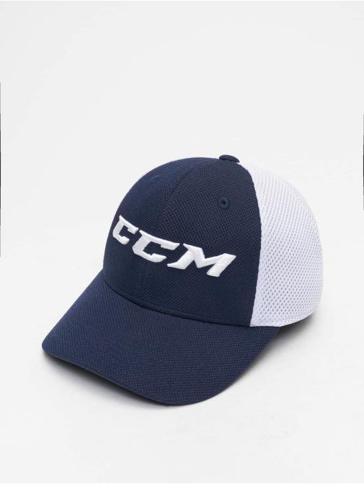 CCM Fitted Cap Team Structured Mesh blau