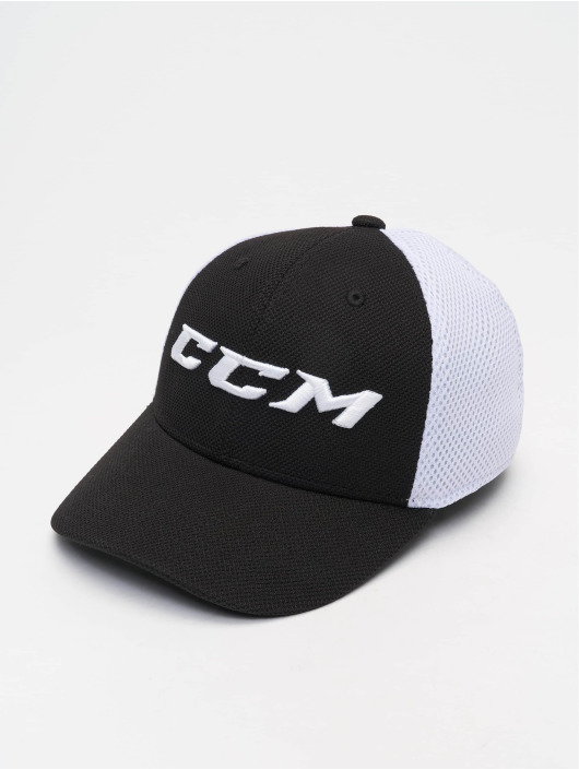 CCM Fitted Cap Team Structured Mesh Flex schwarz