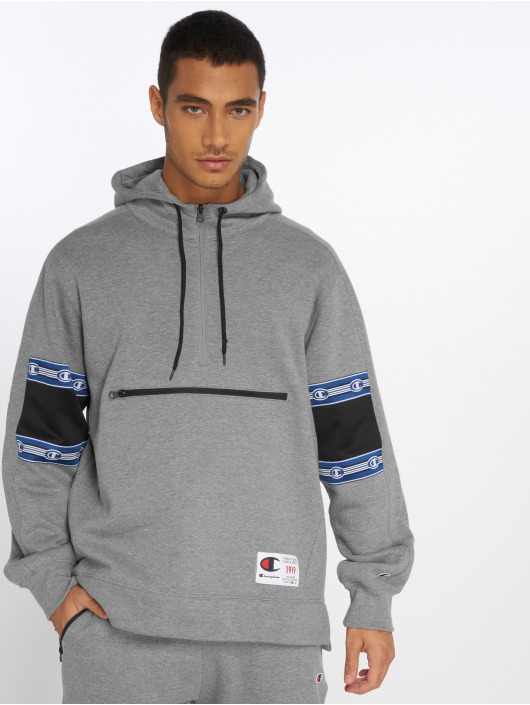 Champion Athletics Hoodie Half Zip grey