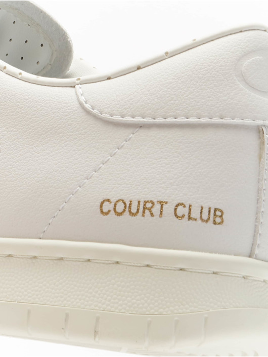 Champion Baskets Rochester Low Cut Court Club Patch blanc