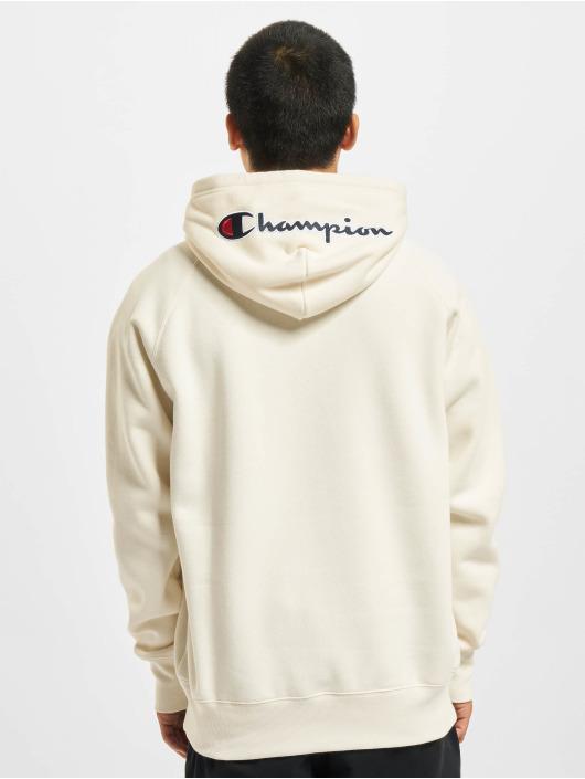 Champion Bluzy z kapturem Half Zip bialy