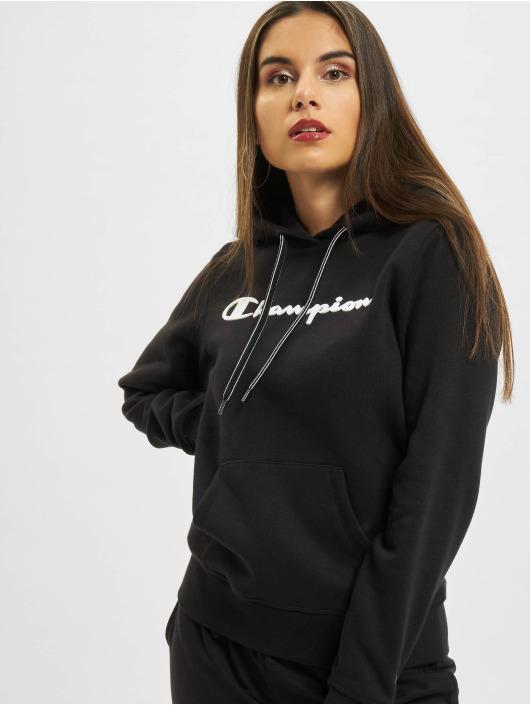 Champion Bluzy z kapturem Logo czarny