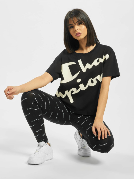 Champion Camiseta Crop negro