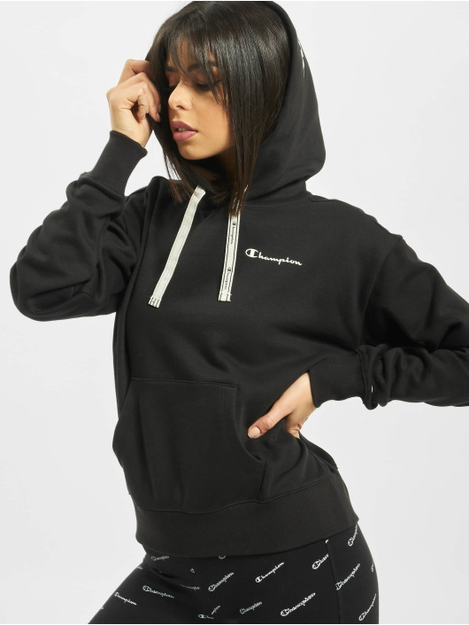 Champion Hoody Hooded Crop schwarz