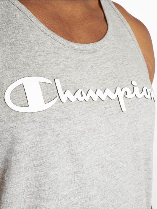 Champion Legacy Tank Tops Classic Logo grigio