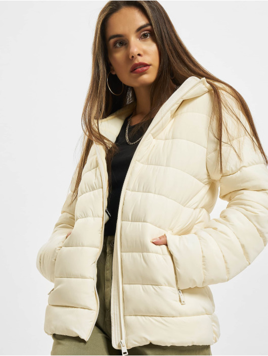 Champion Puffer Jacket Hooded Polyfilled white