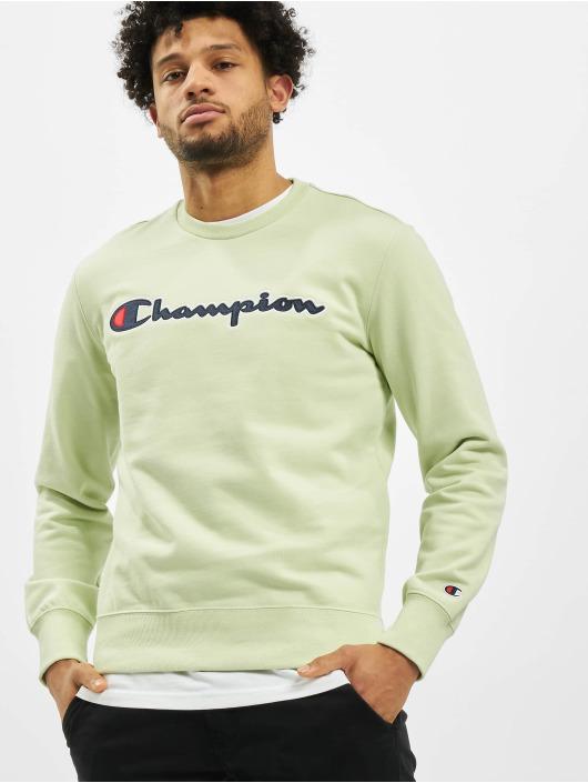 Champion Pullover Satin Logo grün