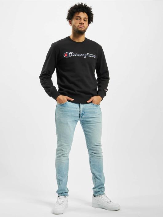 Champion Pullover Satin Logo schwarz
