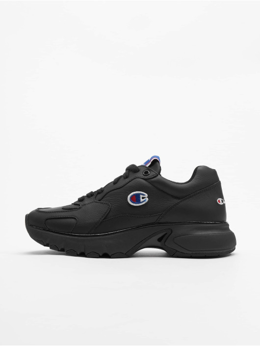 Champion Rochester sneaker CWA-1 Leather Low Cut zwart