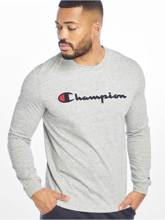 Champion Rochester Tričká dlhý rukáv Logo šedá