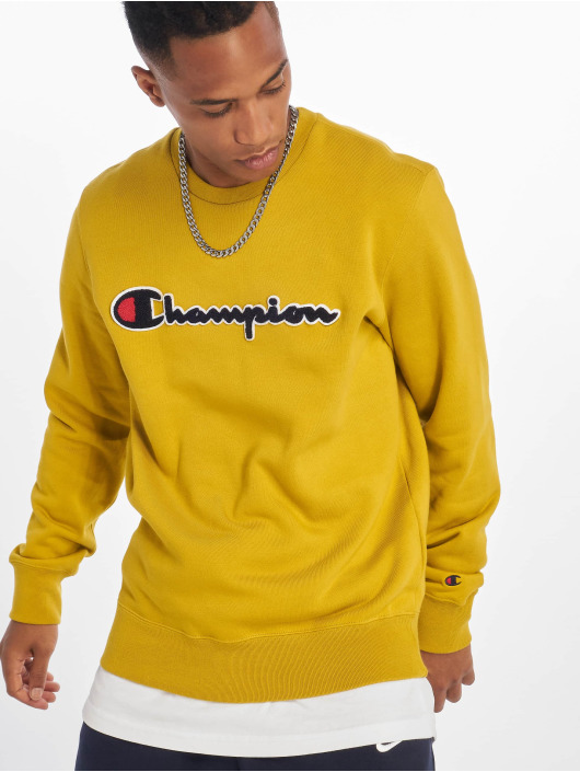 Champion Rochester trui Labels geel