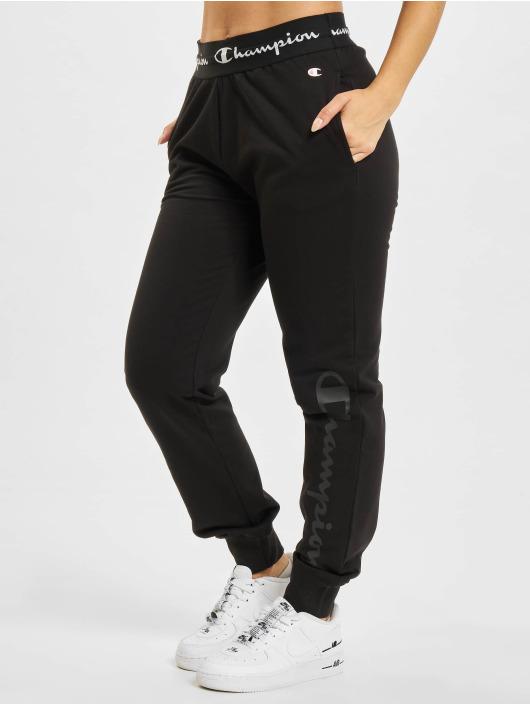 Champion Spodnie do joggingu Rib Cuff czarny