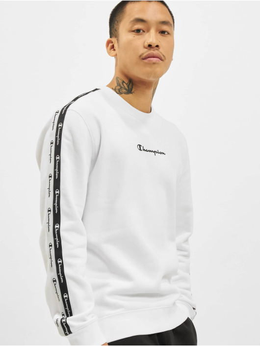 Champion Swetry Logo Tape bialy