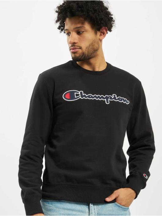 Champion Swetry Satin Logo czarny