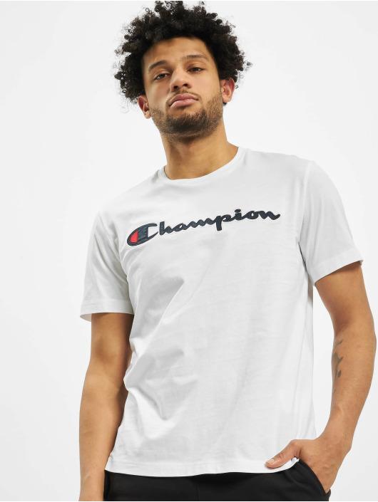 Champion T-Shirt Satin Logo blanc