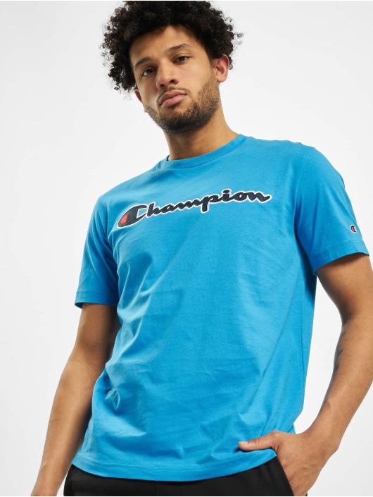 Champion T-Shirt Satin Logo blau