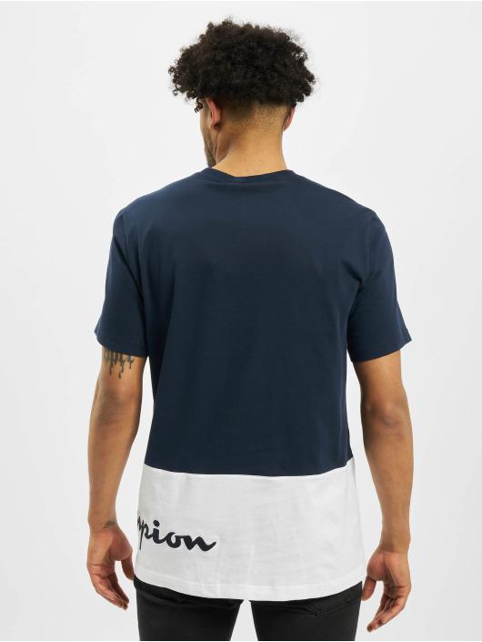 Champion T-Shirt Colourblock blau