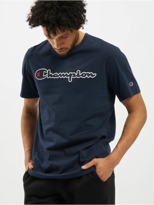 Champion T-Shirt Satin Logo blue