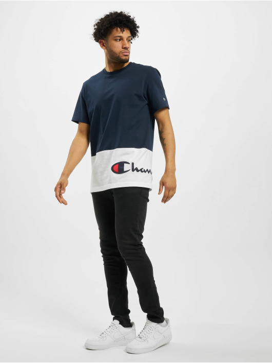 Champion T-Shirt Colourblock blue