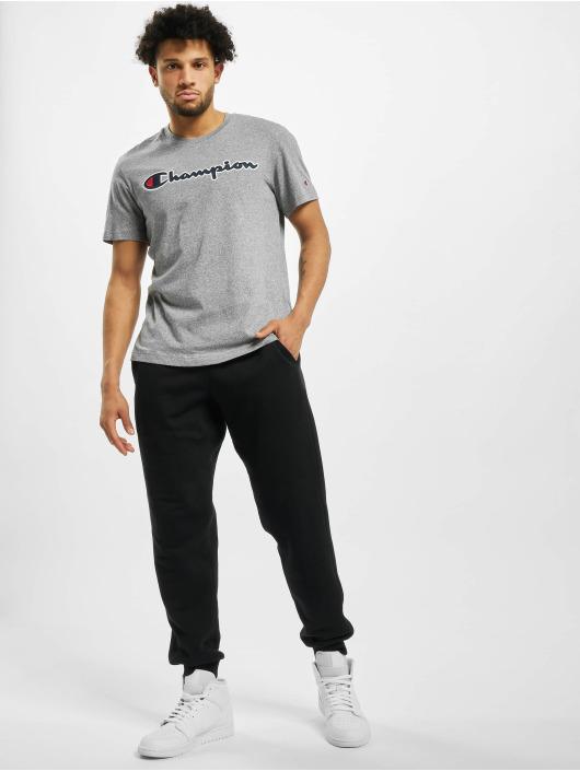 Champion t-shirt Satin Logo grijs
