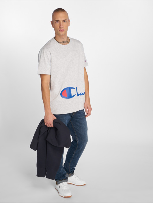 Champion T-Shirt Big Logo gris