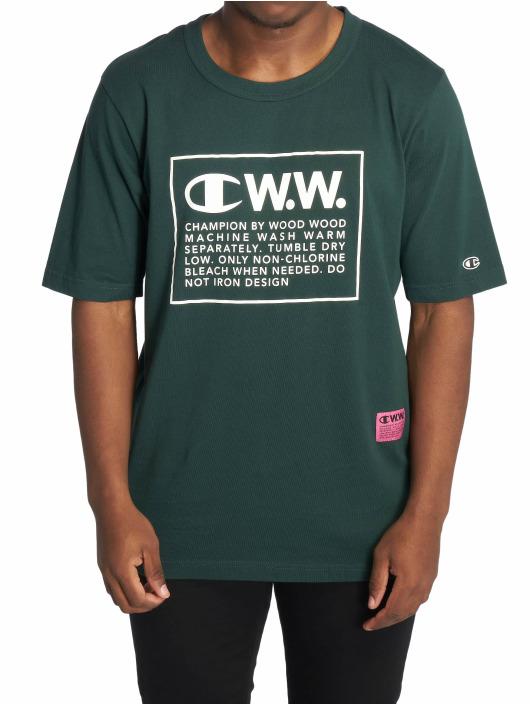 Champion T-Shirt by Wood Wood Rick Crewneck grün