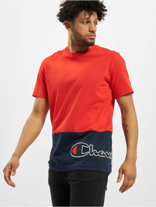 Champion T-Shirt Colourblock rot