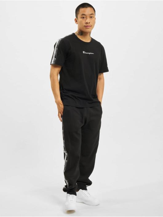 Champion T-Shirt Logo Tape schwarz