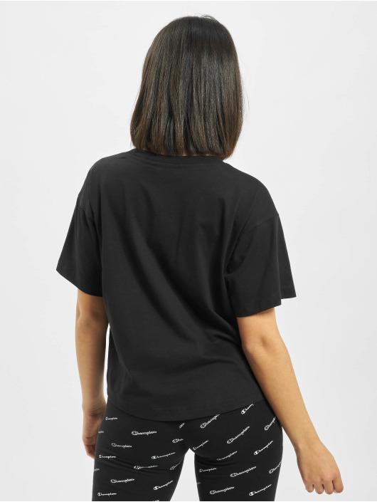 Champion t-shirt Crop zwart