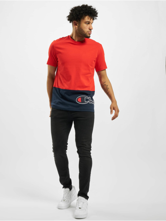 Champion T-Shirty Colourblock czerwony