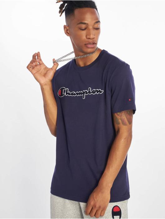 Champion T-Shirty Crewneck niebieski