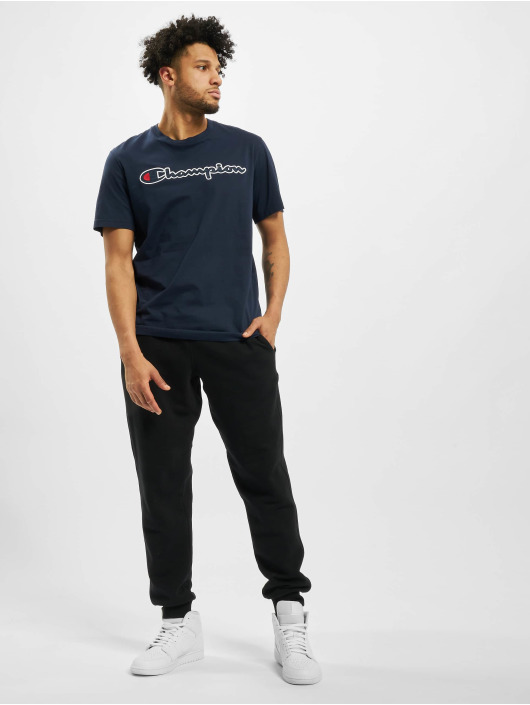 Champion T-Shirty Satin Logo niebieski