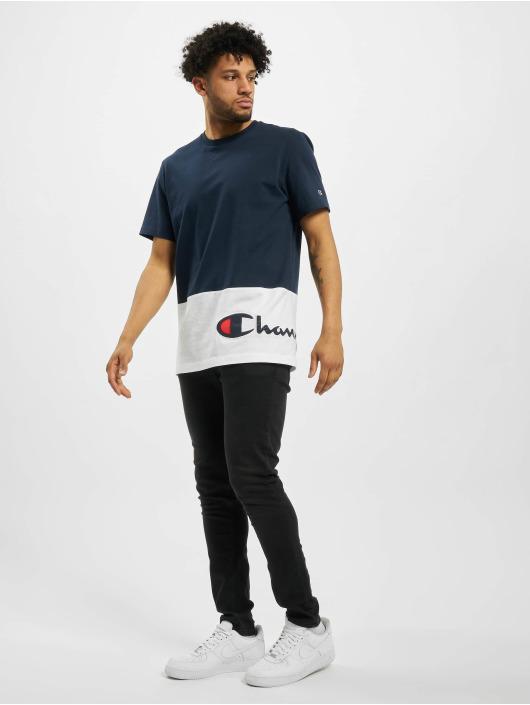 Champion T-Shirty Colourblock niebieski