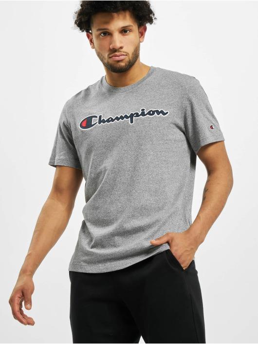 Champion T-Shirty Satin Logo szary