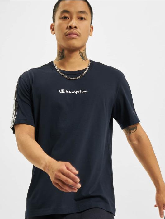 Champion T-skjorter Logo Tape blå