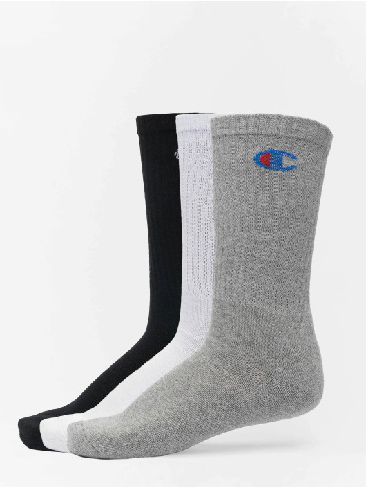 Champion Underwear Socken Y08qg X3 Crew 3-Pack grau
