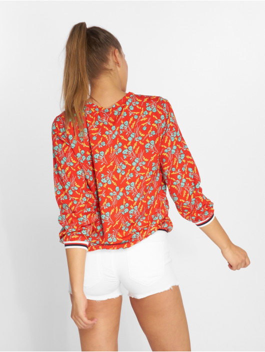 Charming Girl Bluse Uni rot