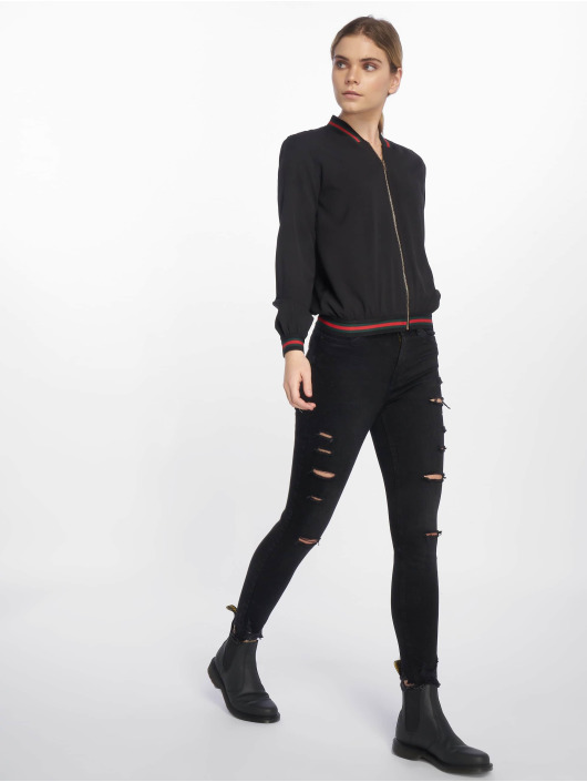 Charming Girl Bomberjacke Urban Bomber Jacket schwarz