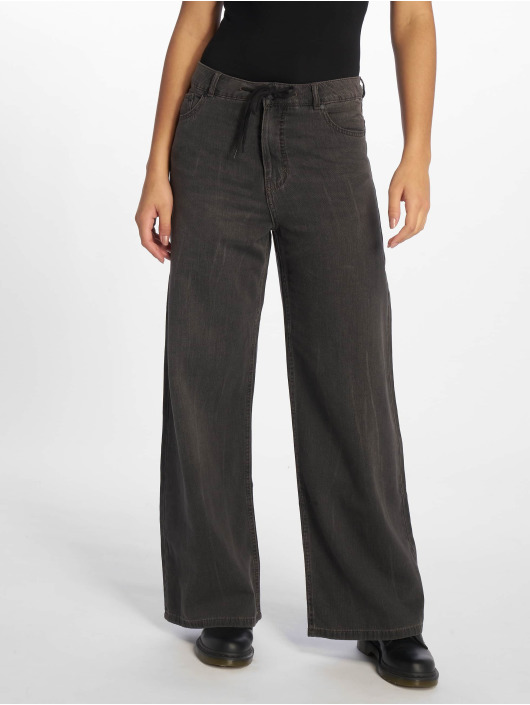 Cheap Monday Chino Ideal Trousers Crinkle schwarz