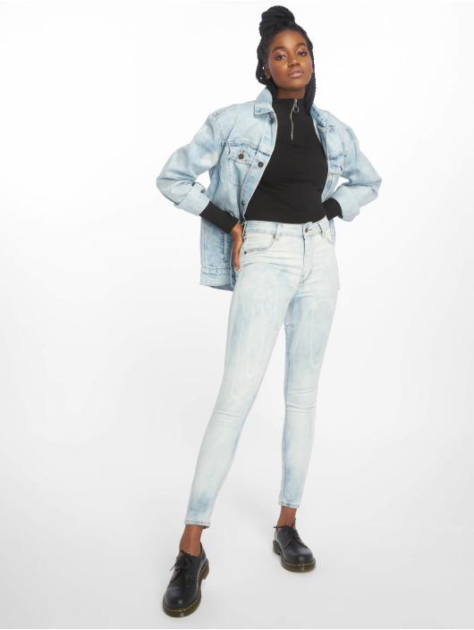 Cheap Monday Skinny Jeans High Spray Blue Spider blau