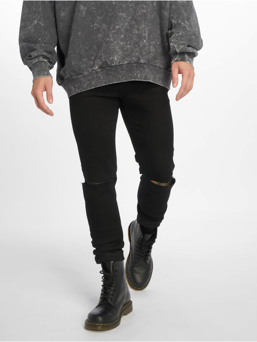 Cheap Monday Skinny Jeans Him Spray Cut czarny