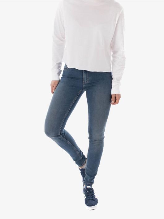 Cheap Monday Skinny Jeans Mid Spray niebieski