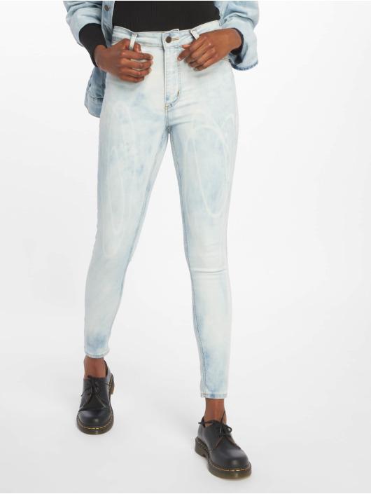 Cheap Monday Skinny Jeans High Spray Blue Spider niebieski