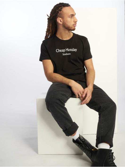 Cheap Monday T-Shirt Standard Cheap Monday Text schwarz