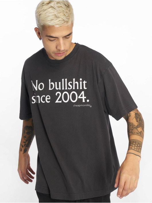 Cheap Monday T-Shirty No Bs Since Used Wash czarny