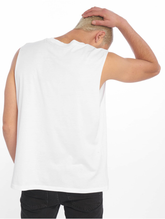 Cheap Monday Tank Tops Slack Speech Logo hvit