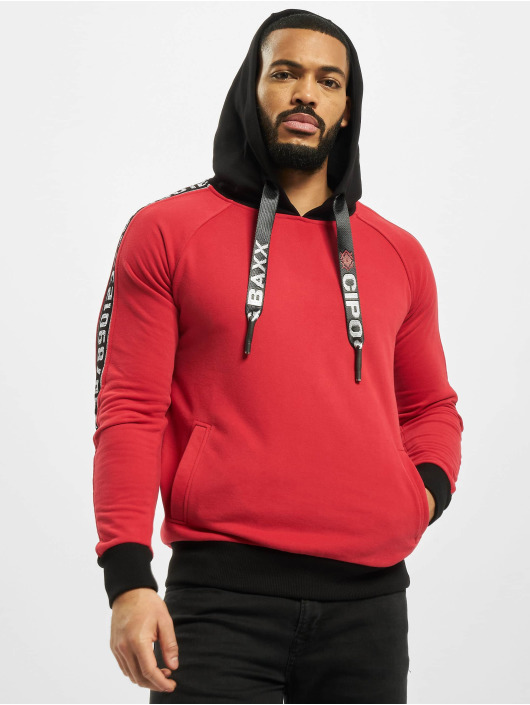 Cipo & Baxx Bluzy z kapturem Big Logo czerwony