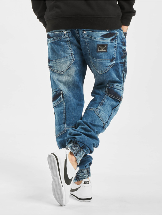 Cipo & Baxx Cargo pants Denim blue