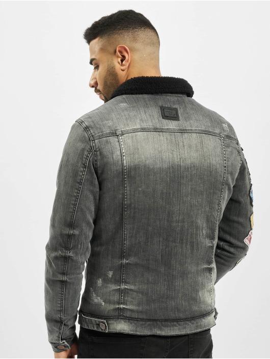 Cipo & Baxx Džínová bunda Stitch šedá