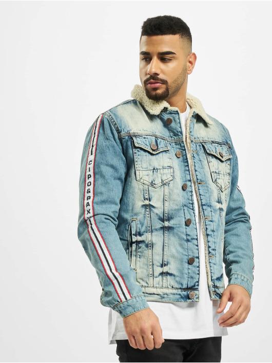 Cipo & Baxx Džínová bunda Stripe modrý